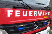 Brand eines Baumes in Hassel